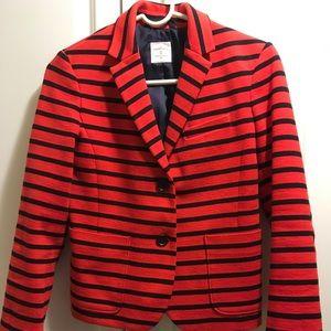 Gap Blue Red Stripe Academy Blazer Size 0